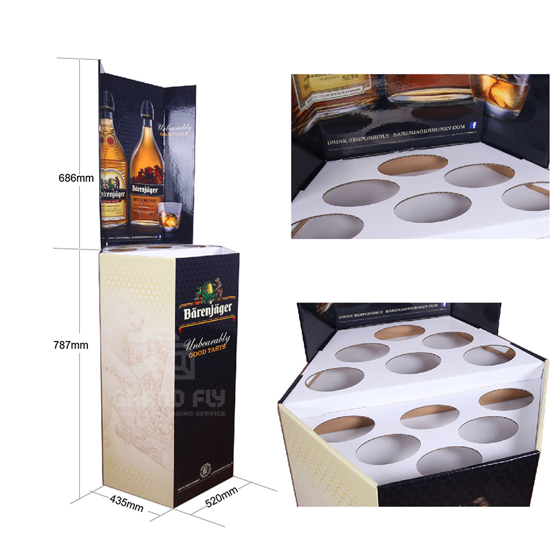 Corrugated Retail Display Bin for Wine & Whisky-4