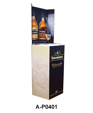 Corrugated Retail Display Bin for Wine & Whisky