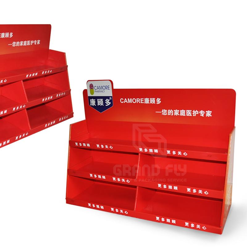 Custom Carton POS Pocket Shelf Counter Display Unit-03