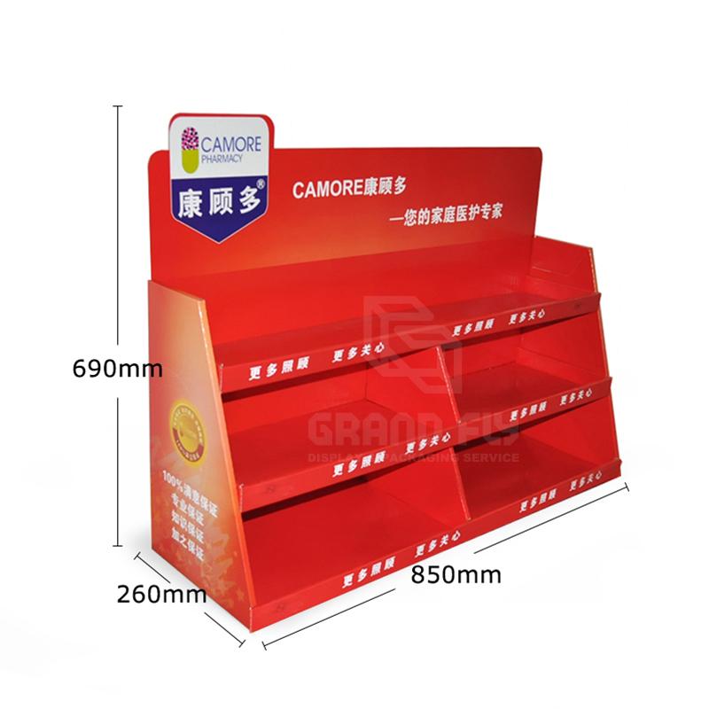 Custom Carton POS Pocket Shelf Counter Display Unit-04