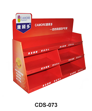 Custom Carton POS Pocket Shelf Counter Display Unit