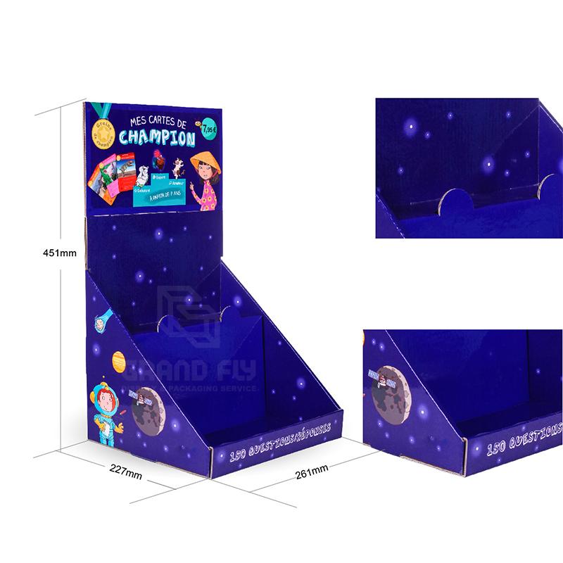Custom Printed 2 Tier Cardboard CDU Display Box for Book-4