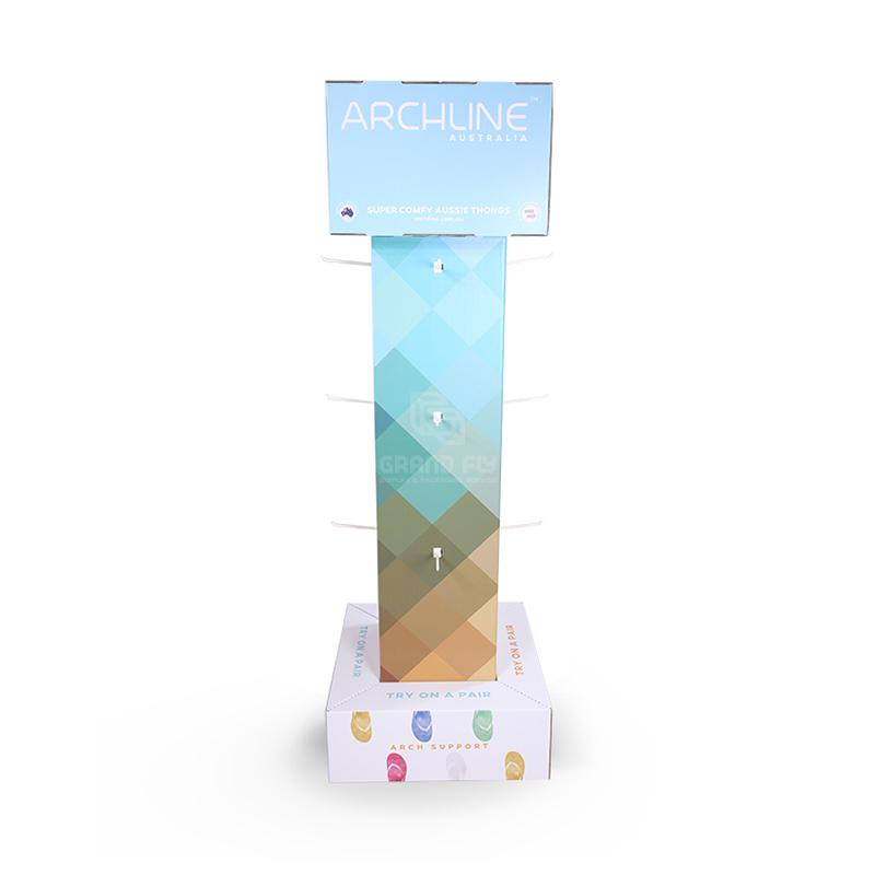 Four Side Cardboard Hook Display Stand for Flip-Flops-3