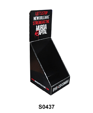 Single Tier Countertop Cardboard Display for CD & DVD