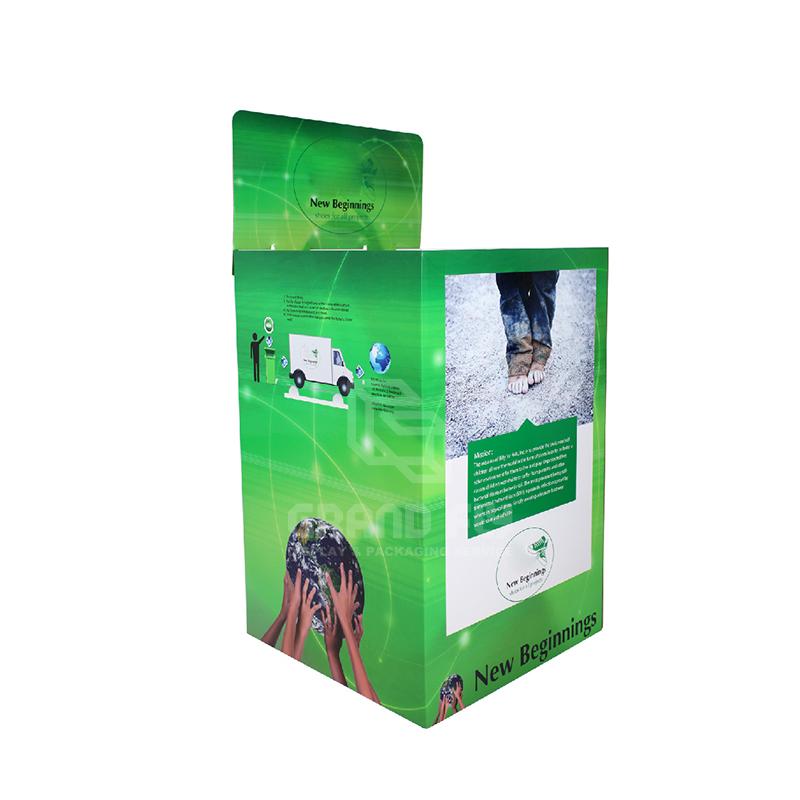 Stackable POS Carton Square Dump Bin for Children's Shoe-1