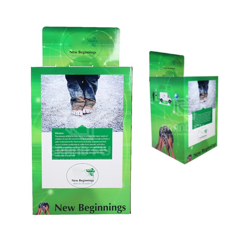 Stackable POS Carton Square Dump Bin for Children's Shoe-2