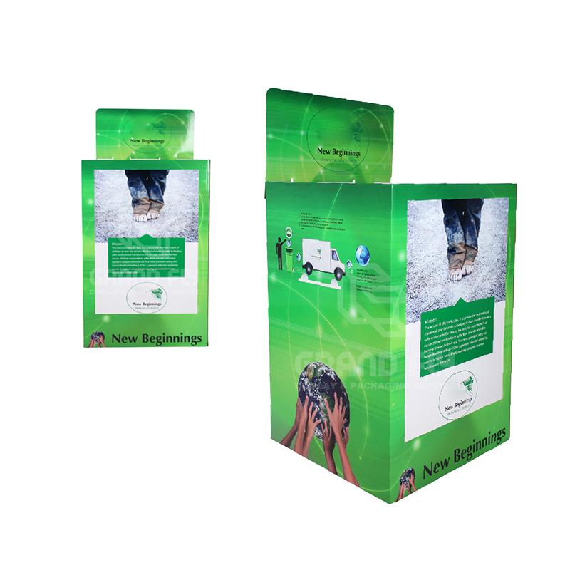 Stackable POS Carton Square Dump Bin for Children's Shoe-3