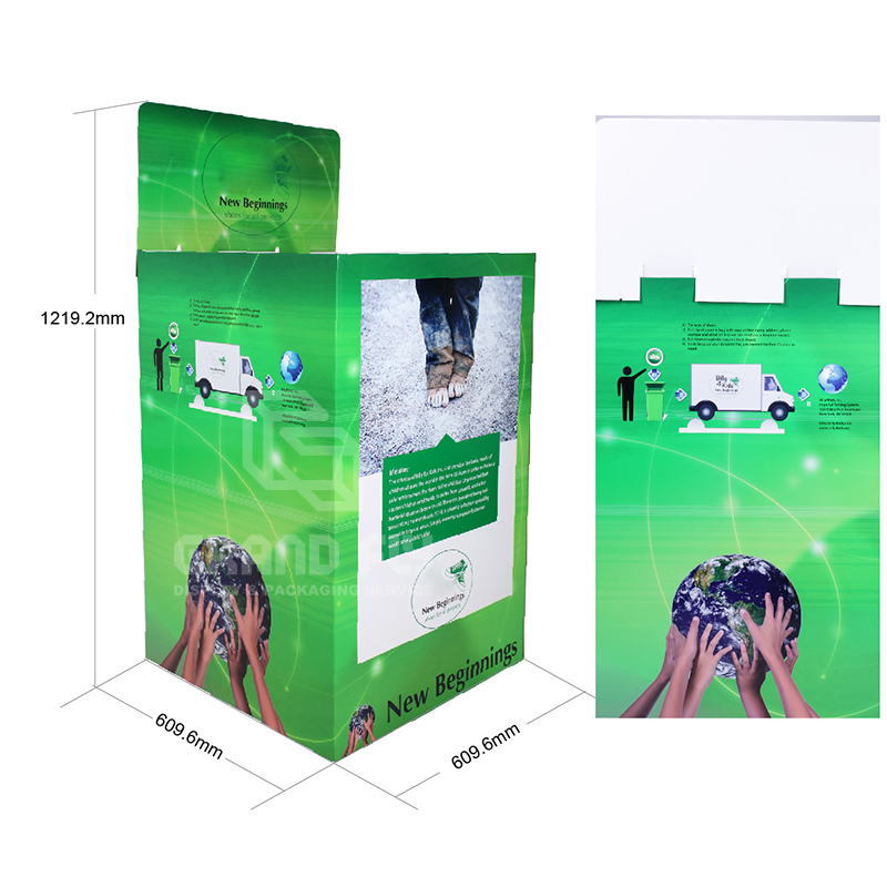 Stackable POS Carton Square Dump Bin for Children's Shoe-4