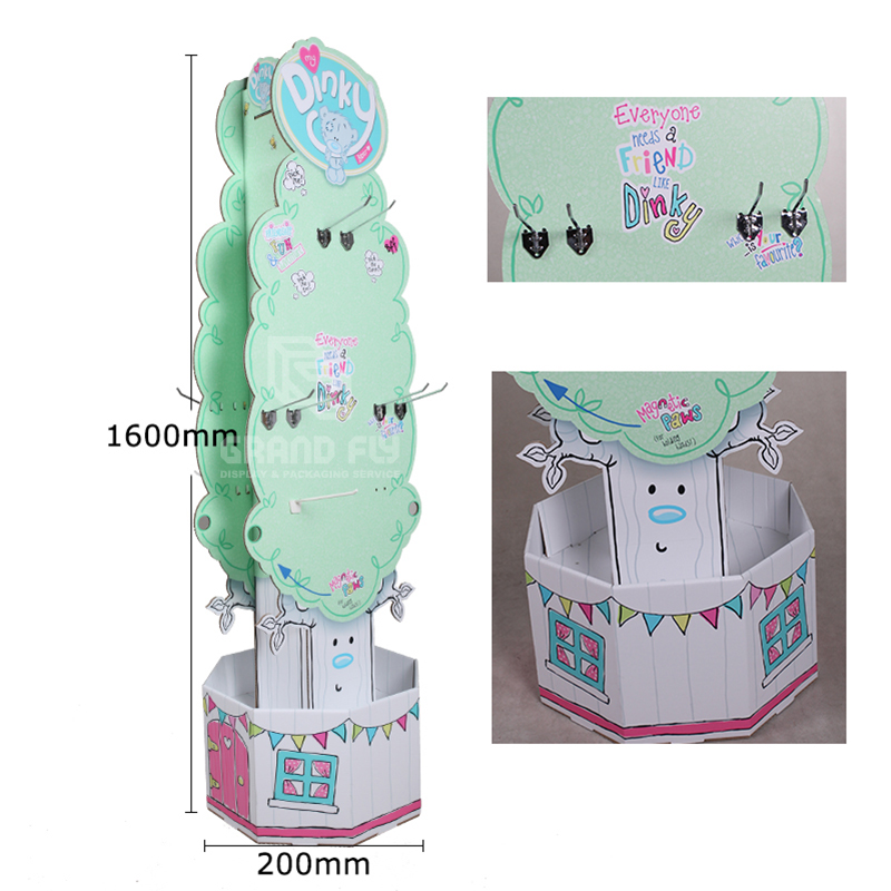 Two Side Cardboard POS Display with Hook for Plush toy-4