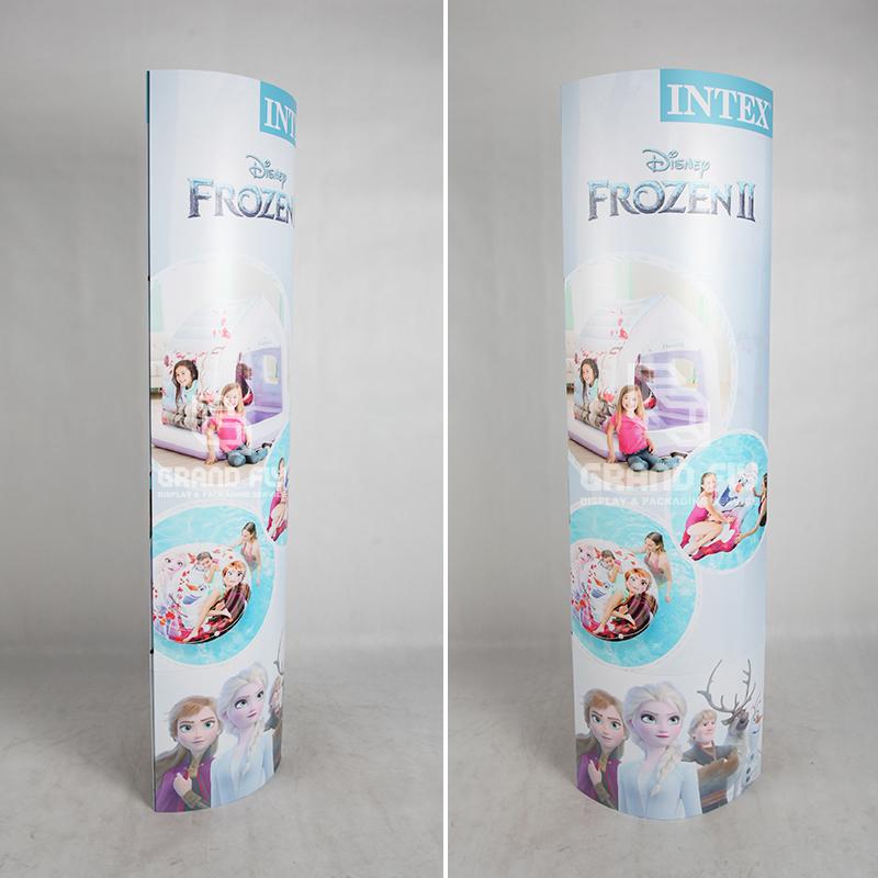 Paper Column Standee Pop Up Banner Display Stands-3