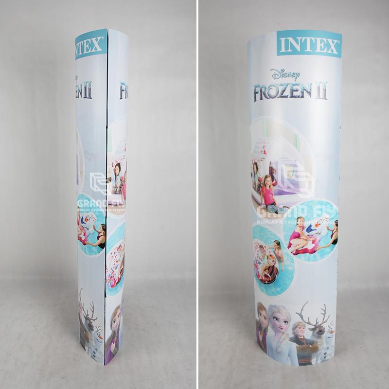 Paper Column Standee Pop Up Banner Display Stands-4