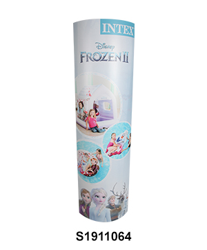 Paper Column Standee Pop Up Banner Display Stands