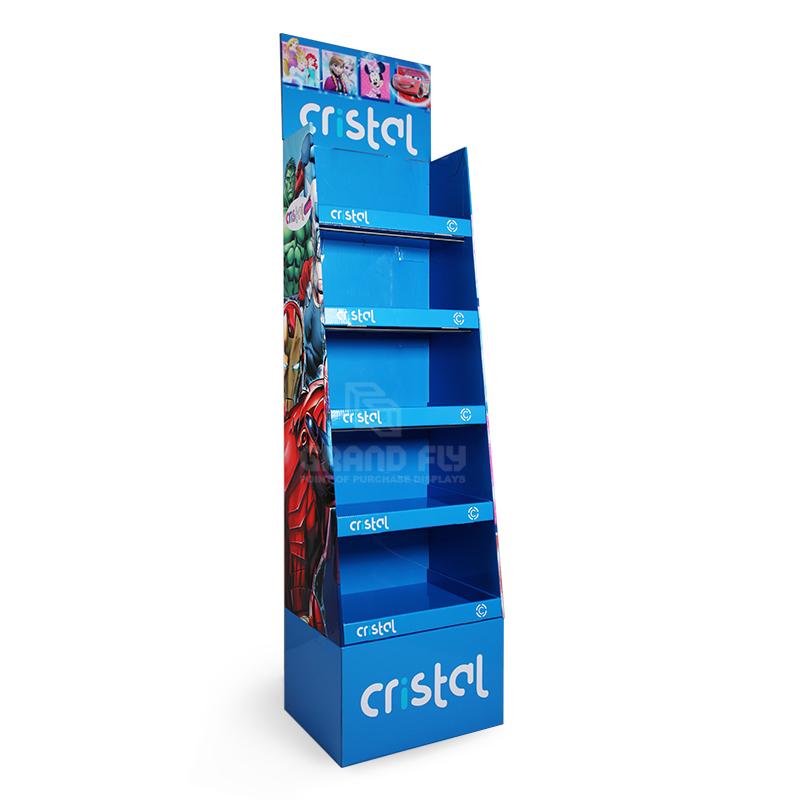 5 Shelf School Supplies Cardboard Retail Point of Sale Display Stand-1
