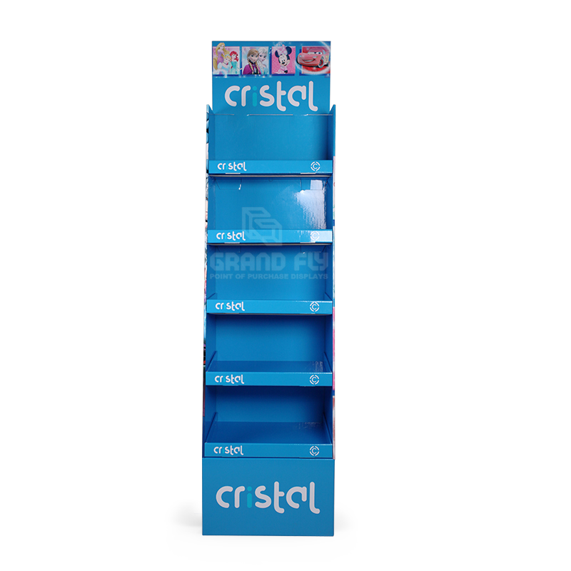 5 Shelf School Supplies Cardboard Retail Point of Sale Display Stand-2