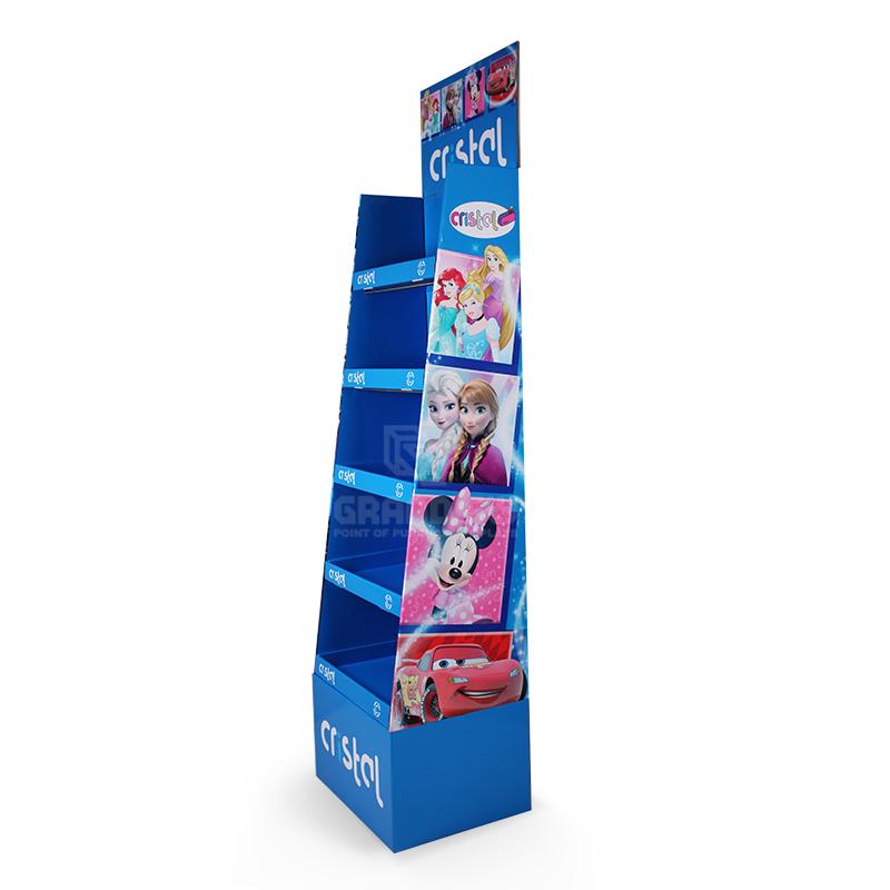 5 Shelf School Supplies Cardboard Retail Point of Sale Display Stand-3