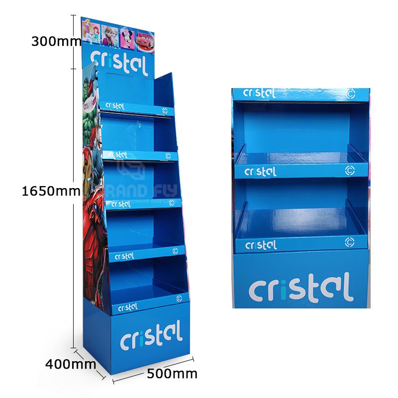 5 Shelf School Supplies Cardboard Retail Point of Sale Display Stand-4