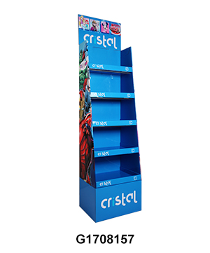 5 Shelf School Supplies Cardboard Retail Point of Sale Display Stand
