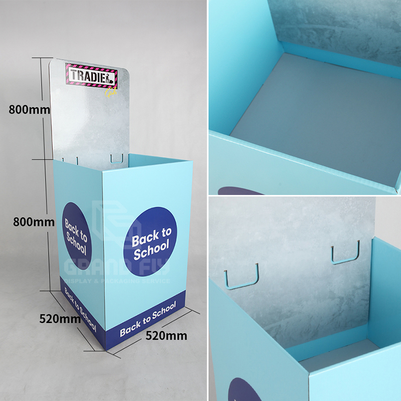 BTS Retail Display Dump Bins with Header for Sock-4