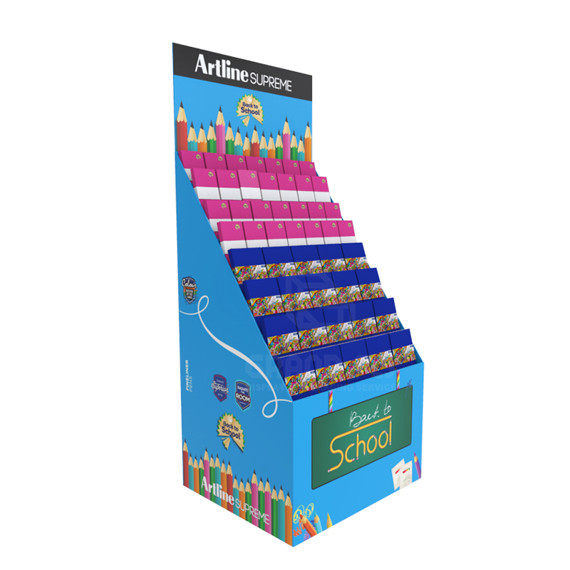 Back to School Temporary POS Display Rack for Notebook-1