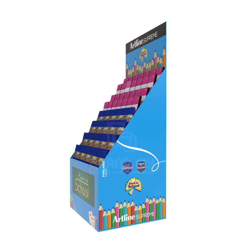 Back to School Temporary POS Display Rack for Notebook-3