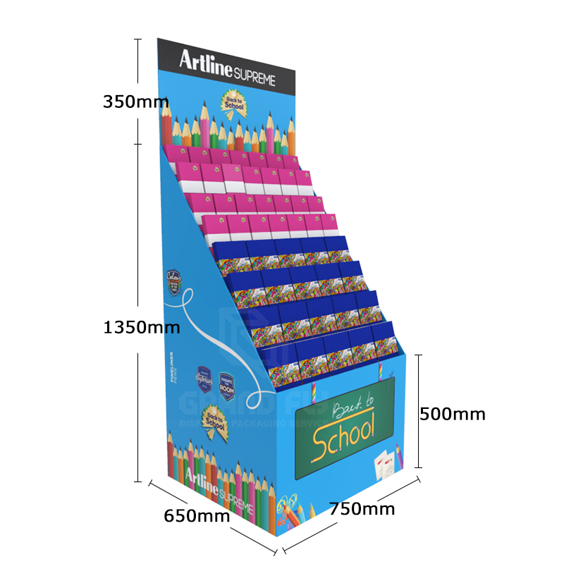 Back to School Temporary POS Display Rack for Notebook-4
