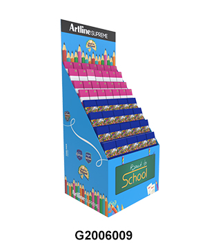 Back to School Temporary POS Display Rack for Notebook