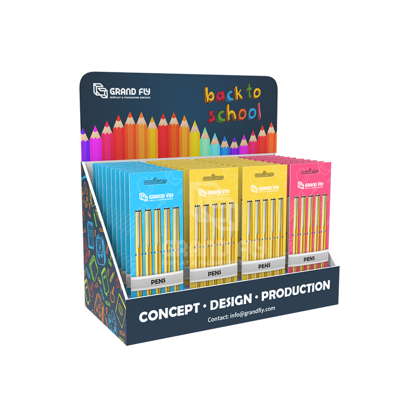 POS Paper Counter Top Display Unit for Crayon Marker Pen-1