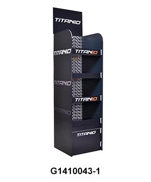 Custom 4 Tier Cardboard Floor Display Rack for Clothing