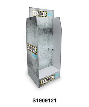 Two-sided Cardboard FSDU Display with Peg Hook for Underwear