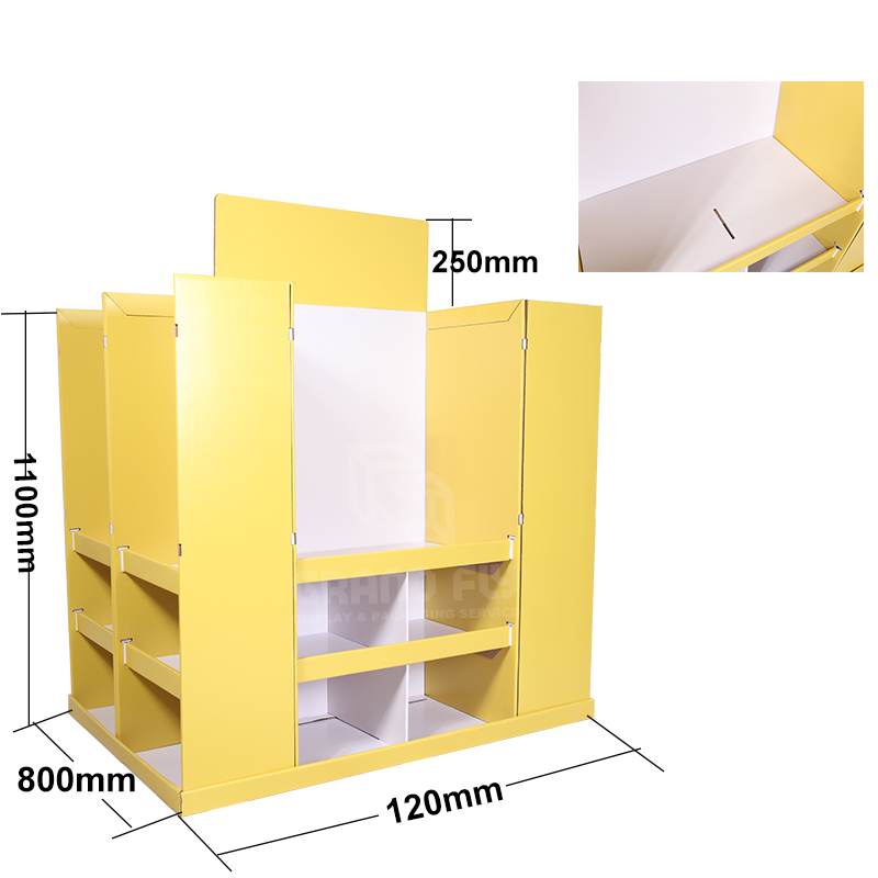 4-Sides BTS Corrugated Full Pallet Display for Stationery-4