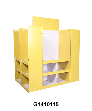 4-Sides BTS Corrugated Full Pallet Display for Stationery