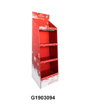 4 Tier Cardboard Free Standing Display Stand for Christmas Gift