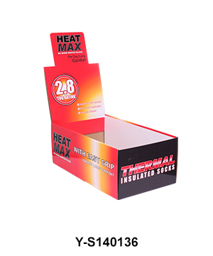 Bespoke Retail Shelf Ready Display Packaging Box for Sock