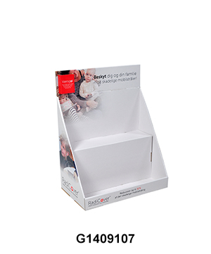 Caredboard Retail Store Counter Top Display with 2 Tier