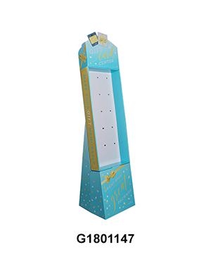 Corrugated Carton Hook FSDU Stand for Greeting CardGift