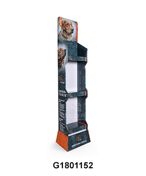 Corrugated Free Standing Display Stand for Dog Food
