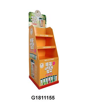 Custom Cardboard Shelf Display Stands with Tier & Base for Tea