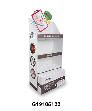 Custom Design Kitchenware Cardboard Point of Sale Displays with 3D Header