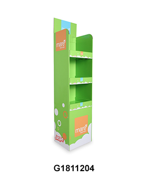 Custom Design Retail Cardboard Display Stands with 3 Tier for Kitchenware