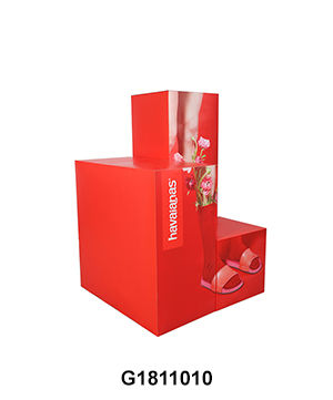 POP Advertising Cardboard Retail Shop Display for Slipper