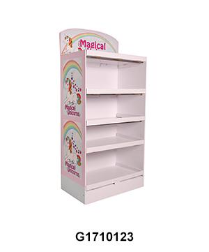 Plush Toy 5 Layer Carton Floor Paper Display Rack