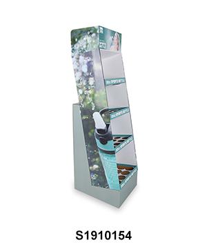 Cardboard Water Bottle POS Merchandise Display Stand