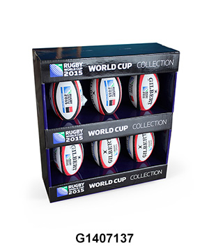 Custom Design POP Retail Counter Display Box for Rugby
