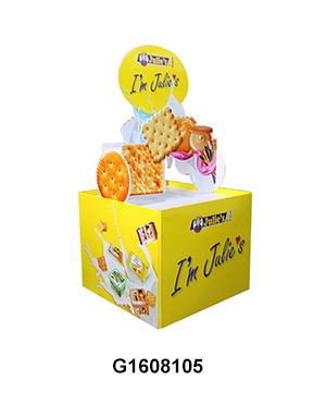 Custom Caton Retail Full Pallet Display Stand for Biscuits