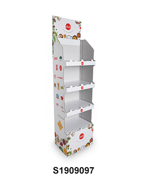 Easy Assembly Cardboard Free Standing Display Unit for Seasoner