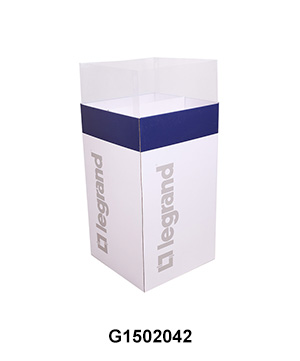 POP Corrugated Dump Bins with PVC Sleeve for Led Light