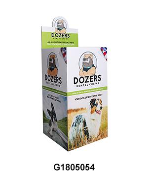 POS Corrugated Carton Display Bin for Dog Toy