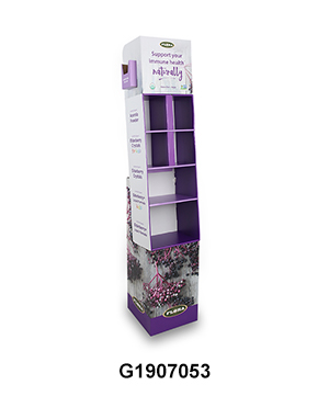 Pharmacy Floor Display Cardboard with Compartment & Brochure holder